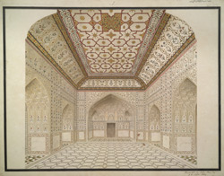 Interior of the Khass Mahal, Agra Fort